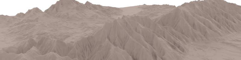 Terrain From Heightmap - Wasatch Front, Northern Utah